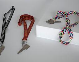 3D Key with Keychain