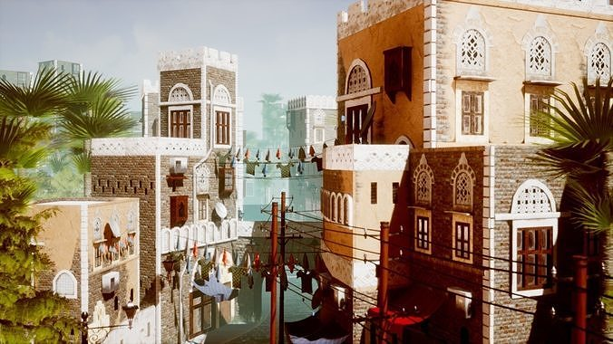 ue4 low poly middle east city pack 3d model uasset 1