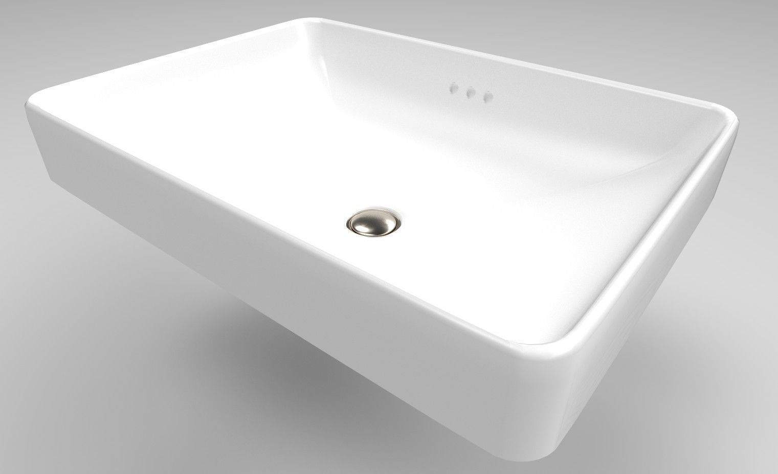 Bathroom Sink Vox Rectangle 3d Model Cgtrader