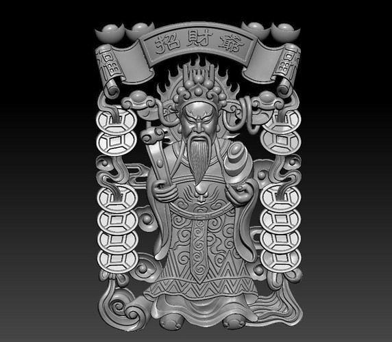 chinese god of wealth 3d model obj mtl stl 1