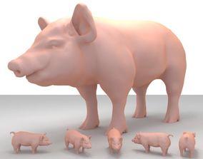 3D print model land Realistic Pig