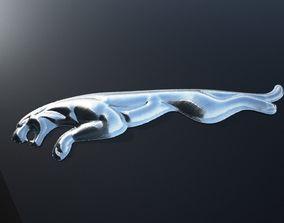 Jaguar panther logo 3D print model