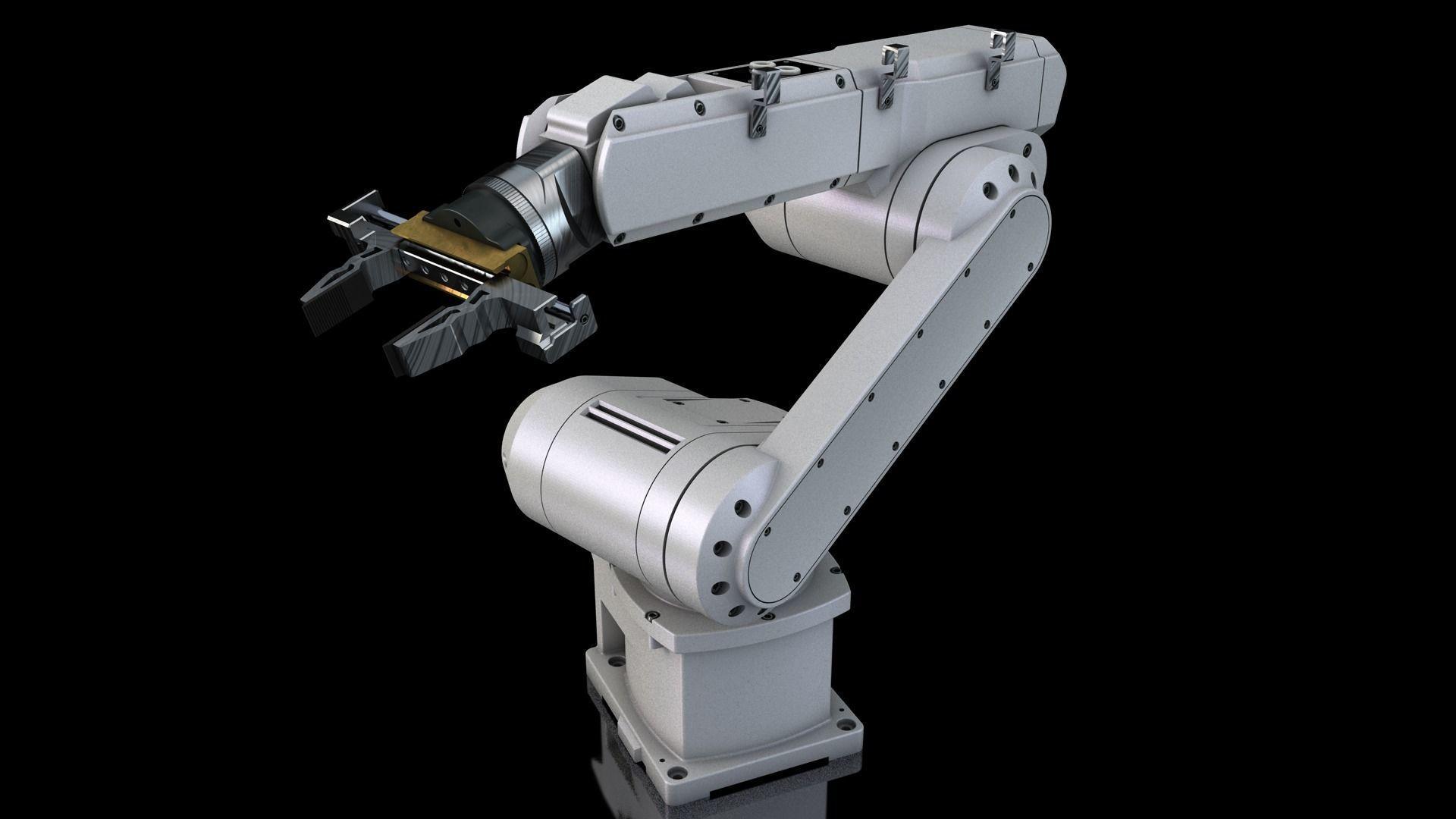 Industrial Robot Arm | 3D Print Model