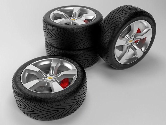 camaro rs wheels 3d model max 1