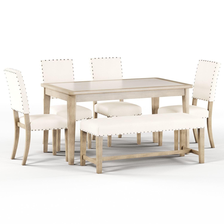 Maison Rouge Carson Caramel Rectangular Table Dining Set