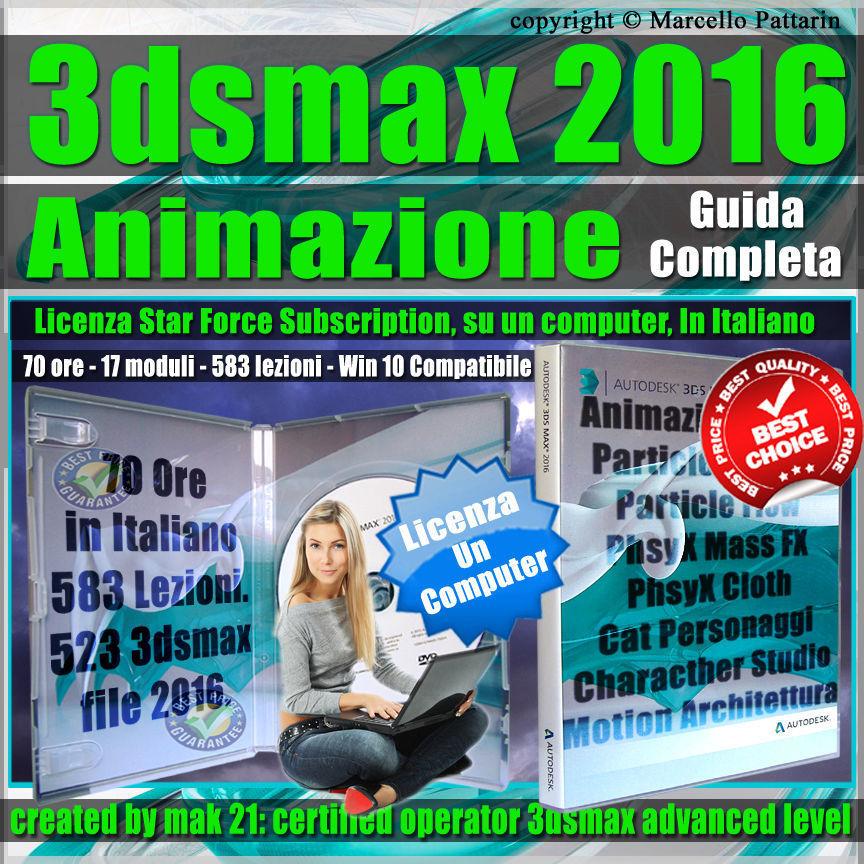 Corso 3ds max 2016 Animazione Guida Completa Subscription