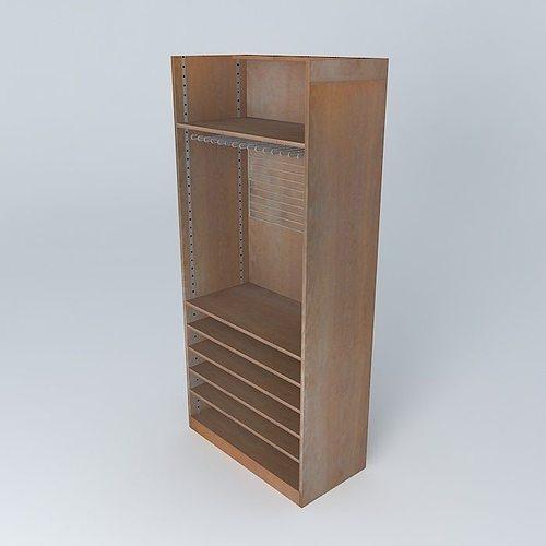 the shelf rack store maisons du monde 3d model max obj mtl 3ds fbx stl dae 1