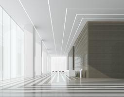 3D model Modern hall lobby