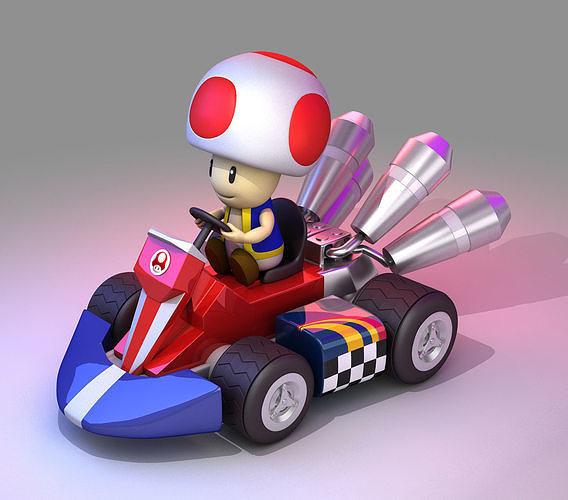 Toad from Mario Kart - Nintendo 3D model