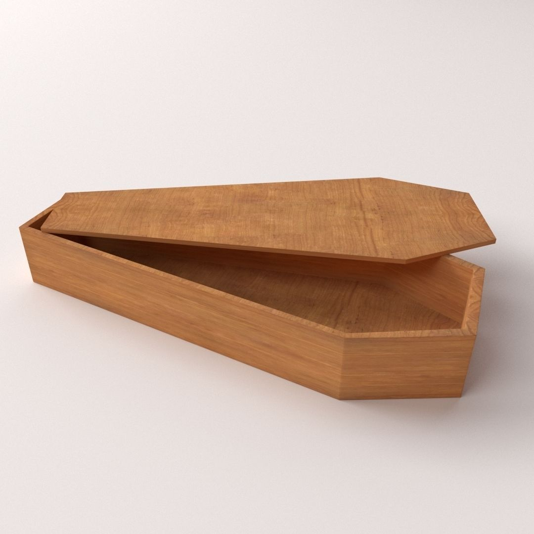coffin cremation 3d model cgtrader