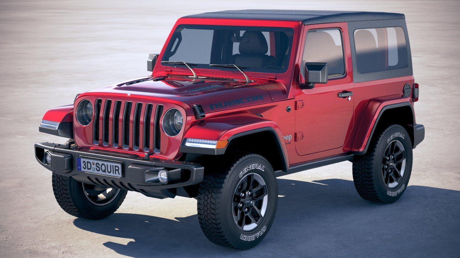 Jeep Wrangler Soft Top >> Jeep Wrangler Rubicon Softtop 2019 3d Model