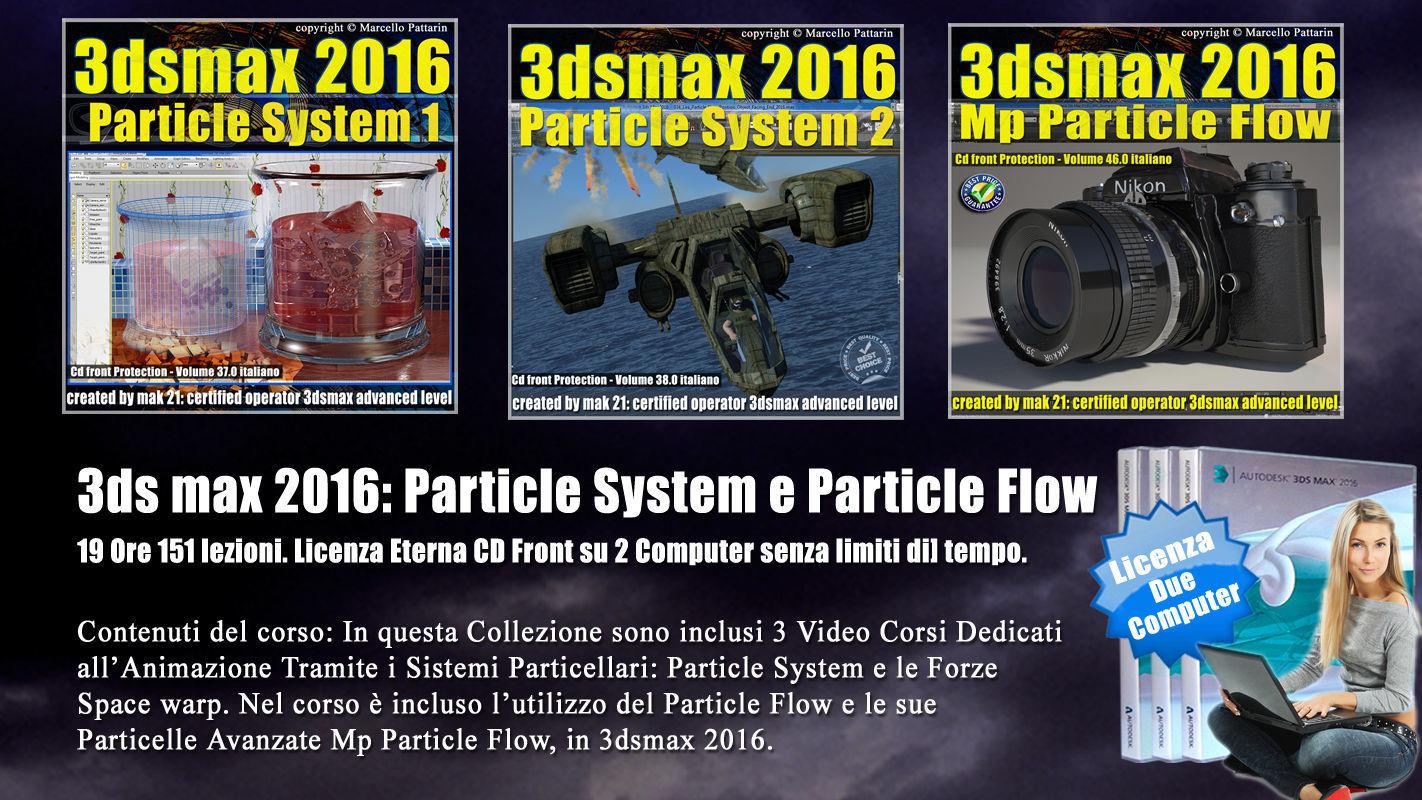 063 3ds max 2016 Particle System e Particle Flow Cd Front V 63