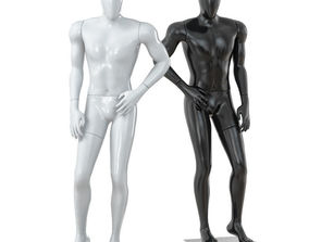 3D model Faceless male mannequin 35