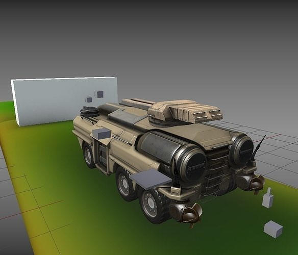 amphibious tank new rig  3d model blend 1