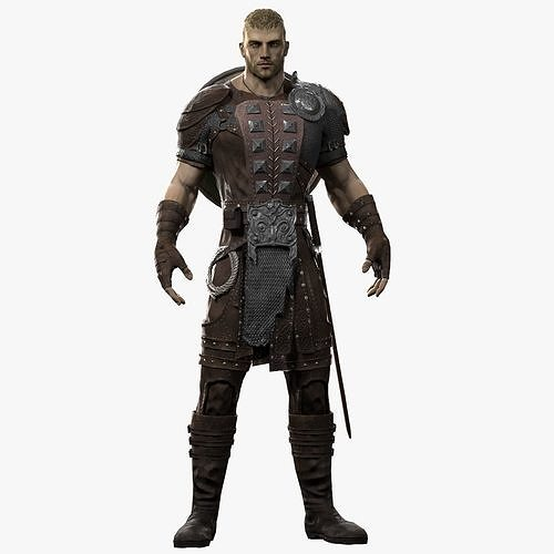 warrior 3d model max obj mtl 3ds fbx tga 1