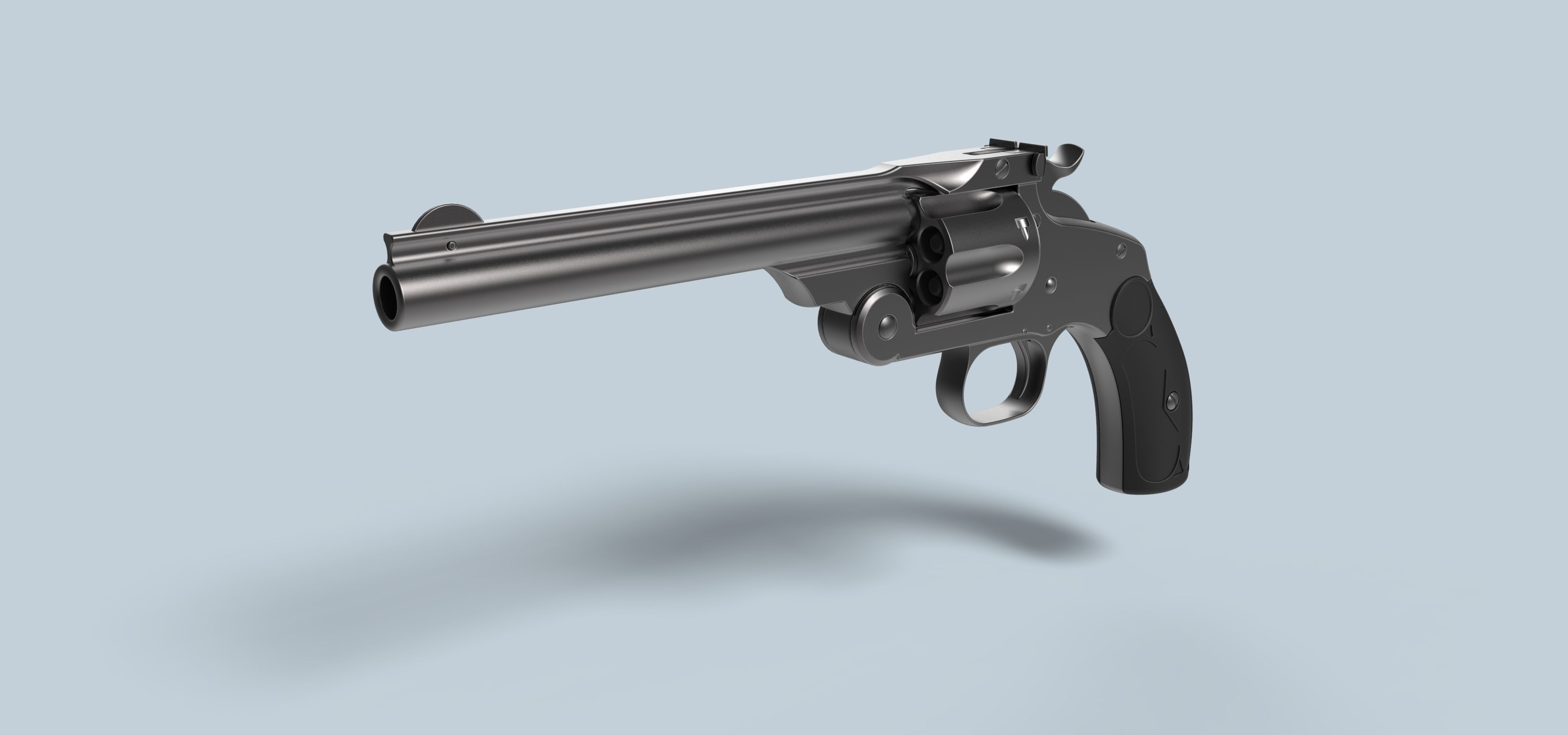 Smith and Wesson Model 3 Single Action Revolver | 3D model