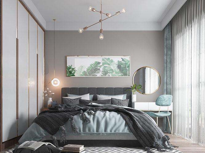 modern bedroom 19 3d model max obj mtl 3ds fbx stl abc 1