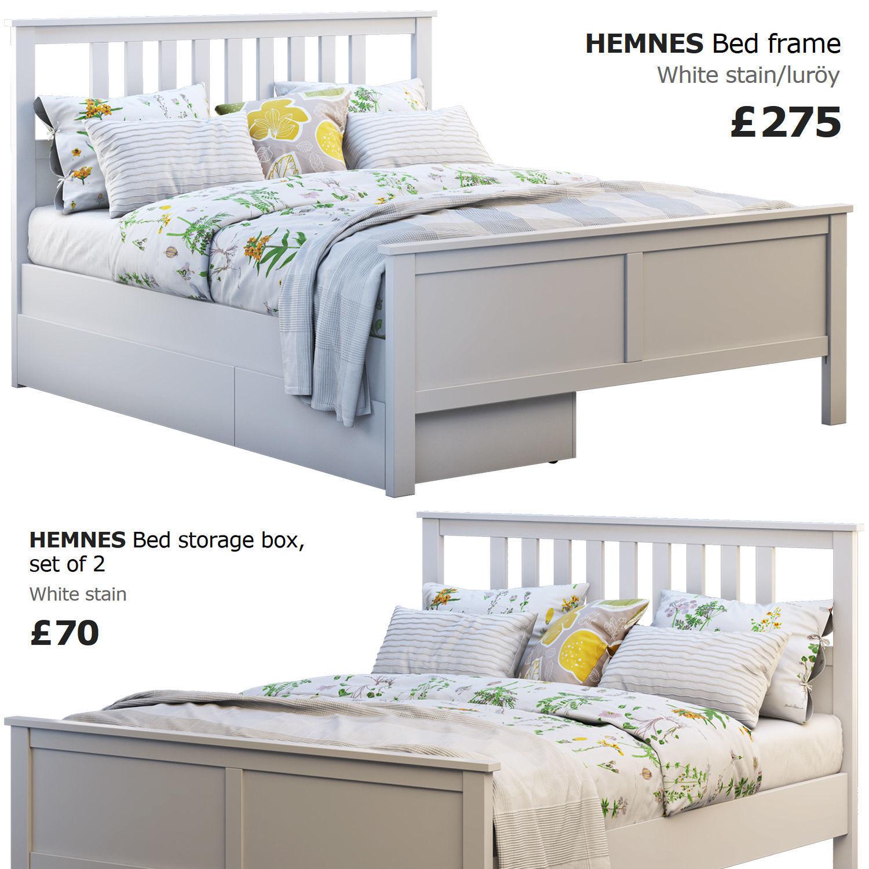 Ikea Hemnes Bed 4 3d Model Cgtrader