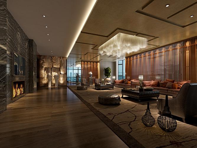 D hotel restaurant interior cgtrader