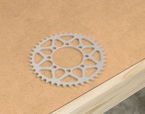 3D asset Motorcycle Sprocket