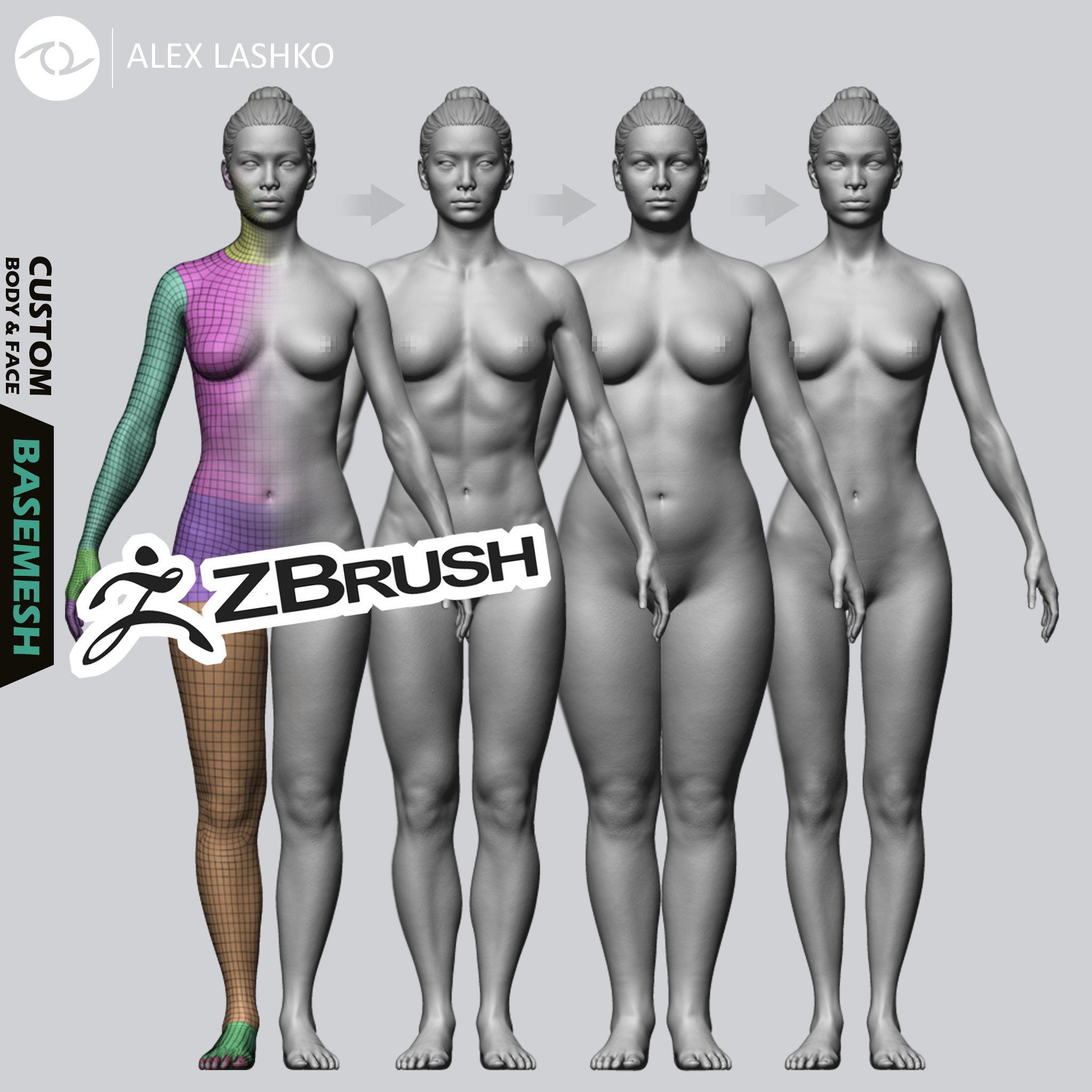 Female Custom Basemesh