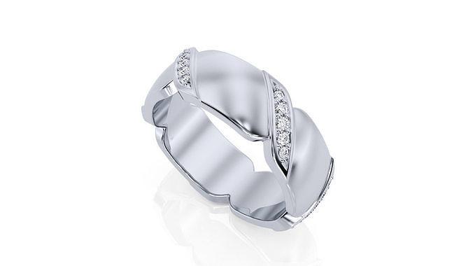 ring band r ba 0011 3d model obj mtl 3ds stl 3dm 1