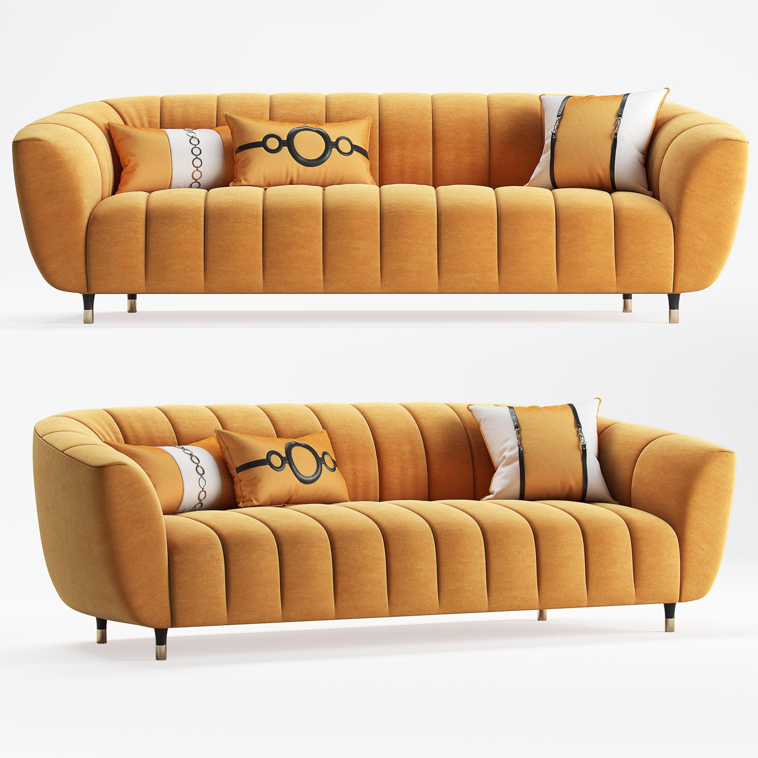 Sofa Spectra 3 Seater 3D model MAX OBJ FBX
