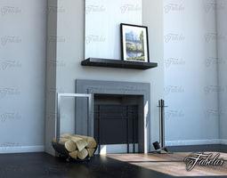 details Fireplace 3D model