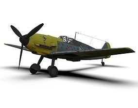 3D model Messerschmitt Bf 109 German ww2 Fighter