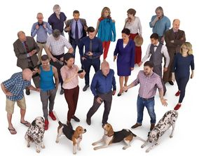 City People and Pets Collection x22 3D model
