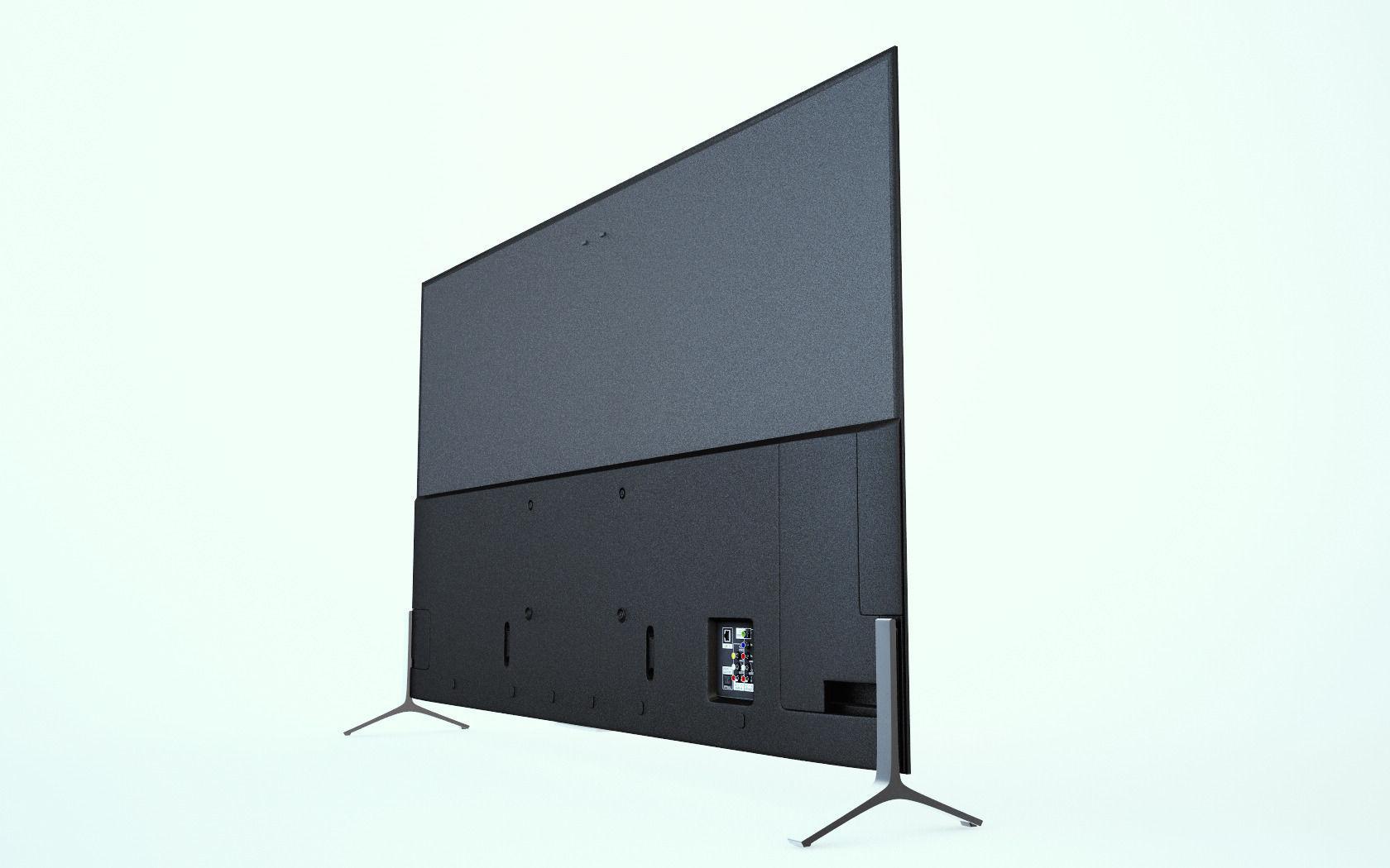 sony 65 inch 4k tv 2015 model 3d model c4d. Black Bedroom Furniture Sets. Home Design Ideas