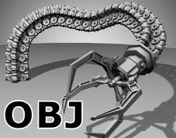 Robot Mechanic Arm OBJ - style one 3D model