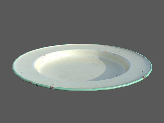 rusty plate 3d model low-poly obj mtl fbx blend dae 1