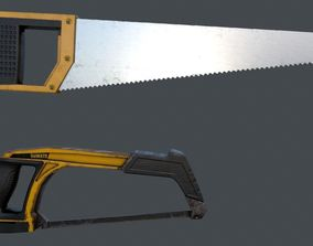 Saw and Hacksaw - PBR Game Ready Low-poly 3D realtime
