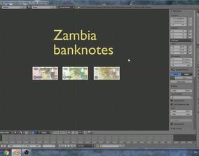 low-poly Zambia - exotic african money models