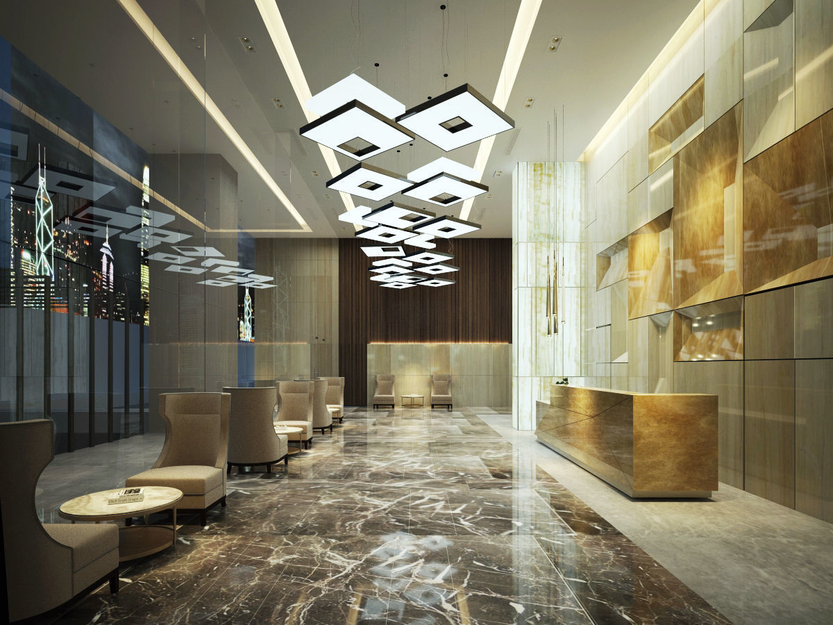 3d Hotel Reception Luxury Cgtrader