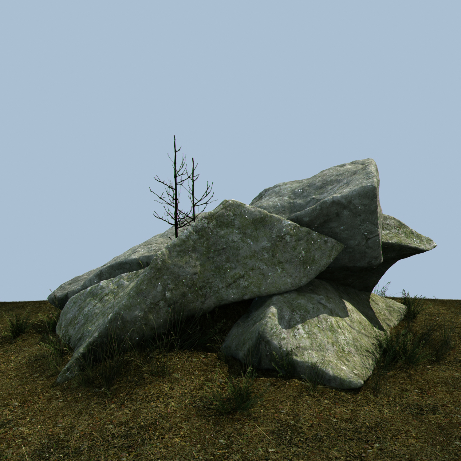 Granite outcrops miniscenes 3D model | CGTrader on Granite Models  id=14472