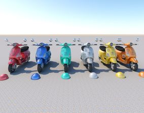electric Piaggio Vespa 2018 3D model
