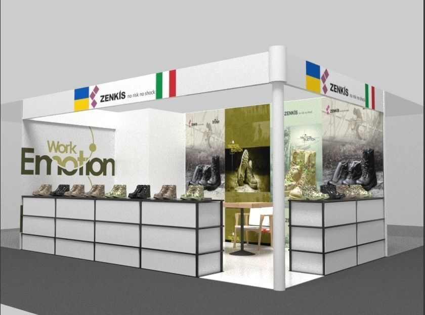 Exhibition Stand Or Booth : D exhibition stand shoe booth cgtrader