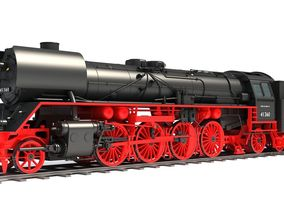 3D model Steam Locomotive Train drb