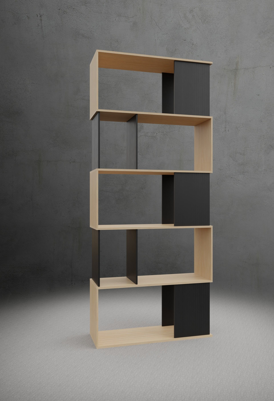 Twist 7  Shelf Bookcase
