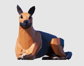German Shepherd base 3D asset VR / AR ready