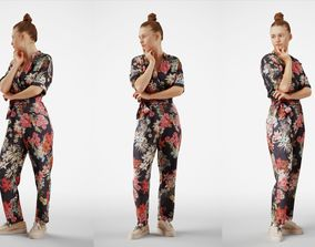 Isabel 32 Fashionista Woman posed standing in 3D model 1