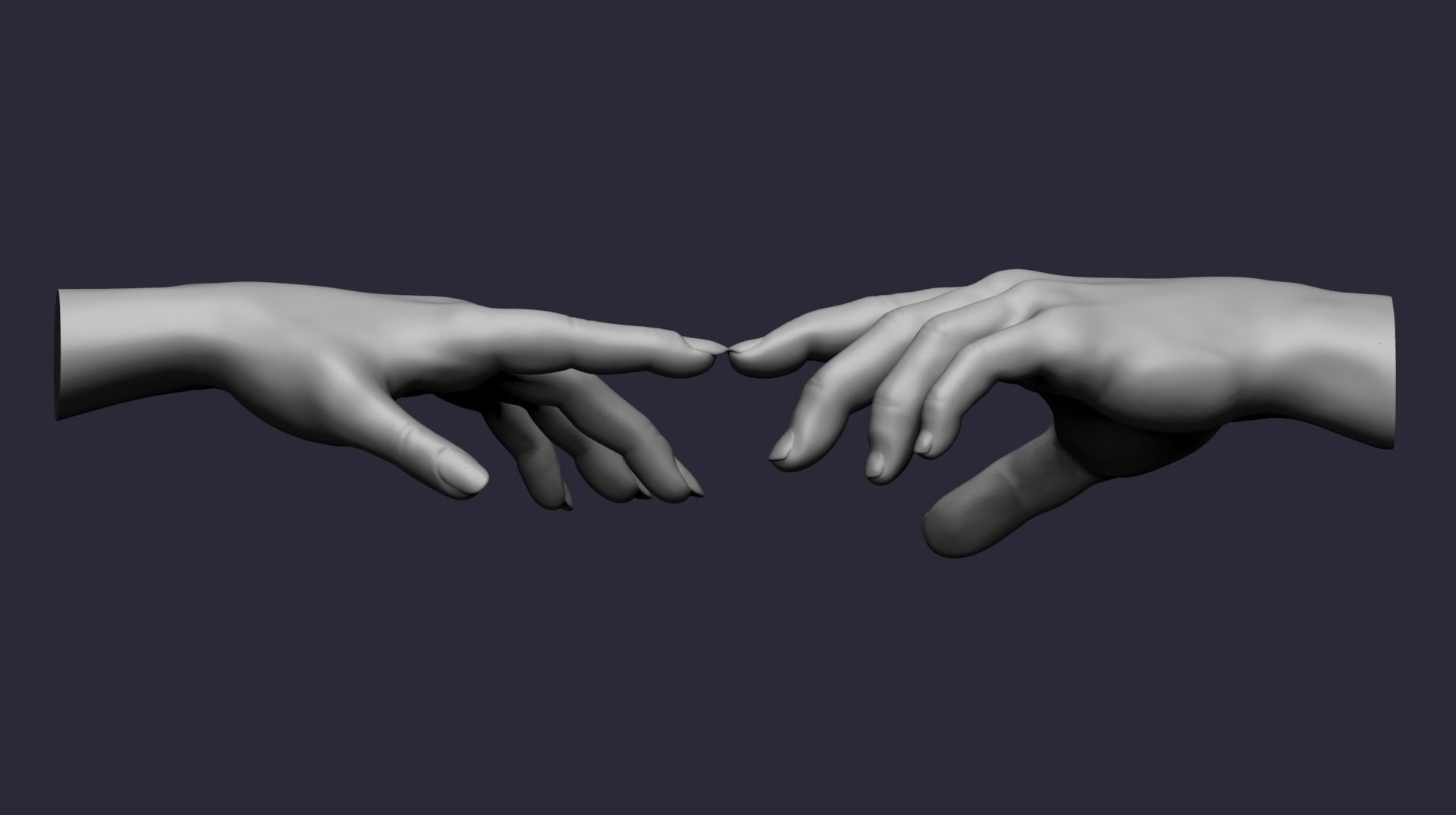 Male and female hand pose