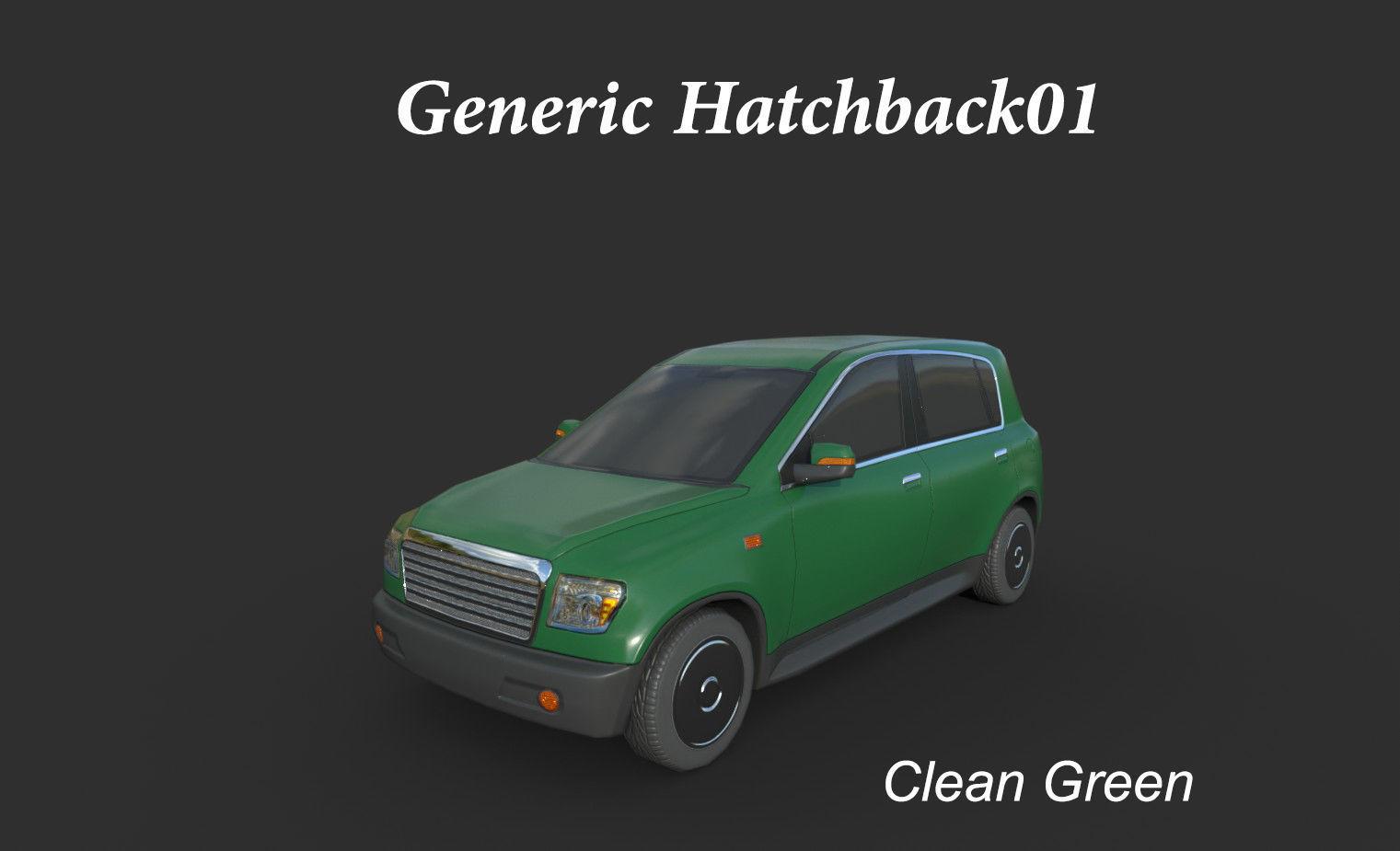 Generic Hatchback 01 Clean Green