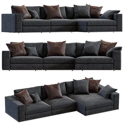 minotti hamilton angle sofa 3d model max obj mtl mat 1