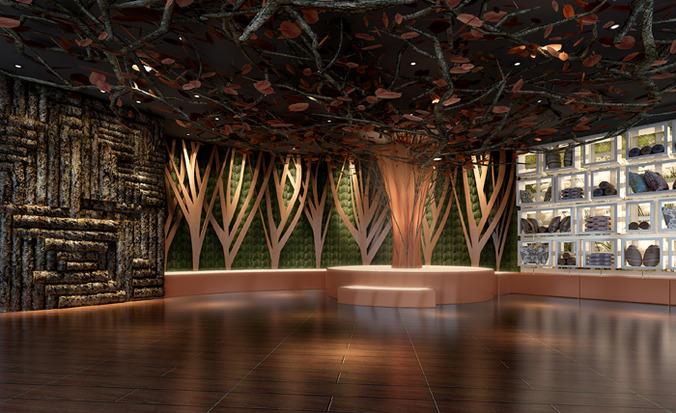 huge bar lounge restaurant 3d model max 1