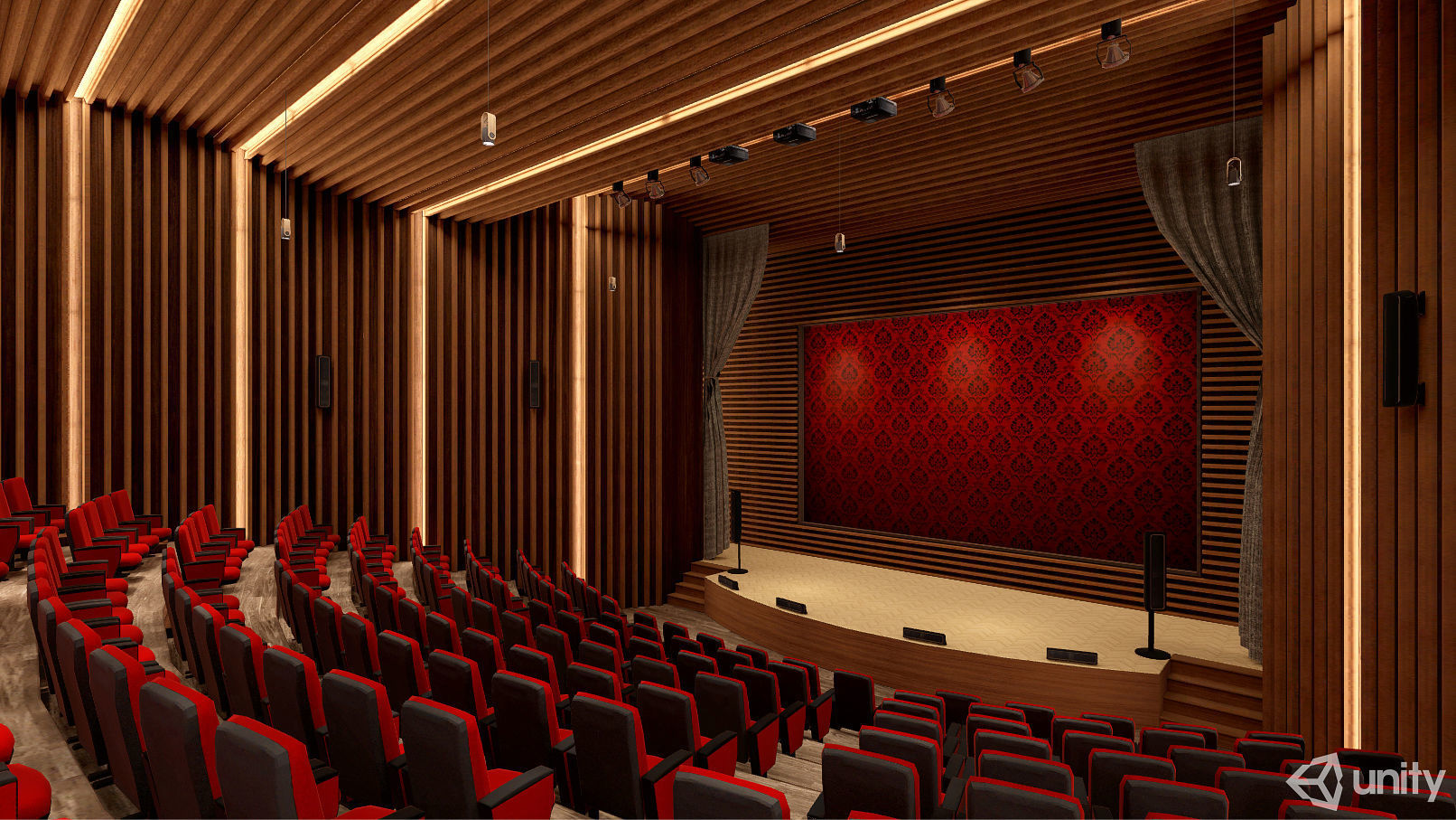 Auditorium VR AR Game Ready | 3D model