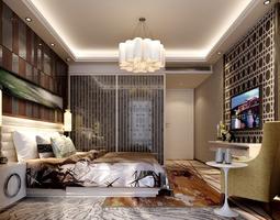 3D Light bed room interior