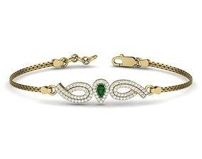 jewelry Diamond Bracelet For Ladies 3D printable model